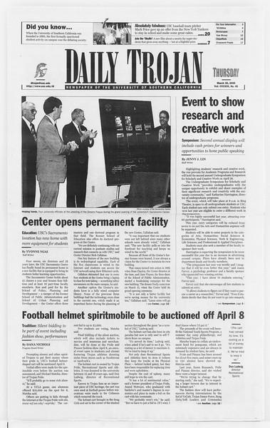 Daily Trojan, Vol. 139, No. 47, March 30, 2000
