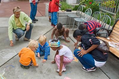 CHALK4PEACE '09- Museum of Children's Art (MOCHA), Oakland, CA 9/12/09