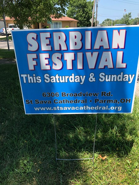 Serbian Festival - Sat., July 23, 2019 - St. Sava Cathedral, Parma, OH