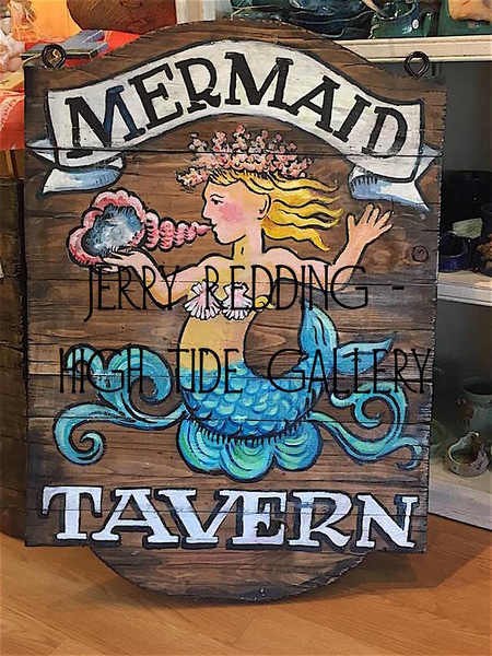 JERRY REDDING - Mermaid Tavern Handmade Sign