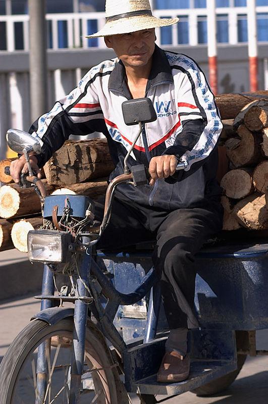 Motorcycle cart.
