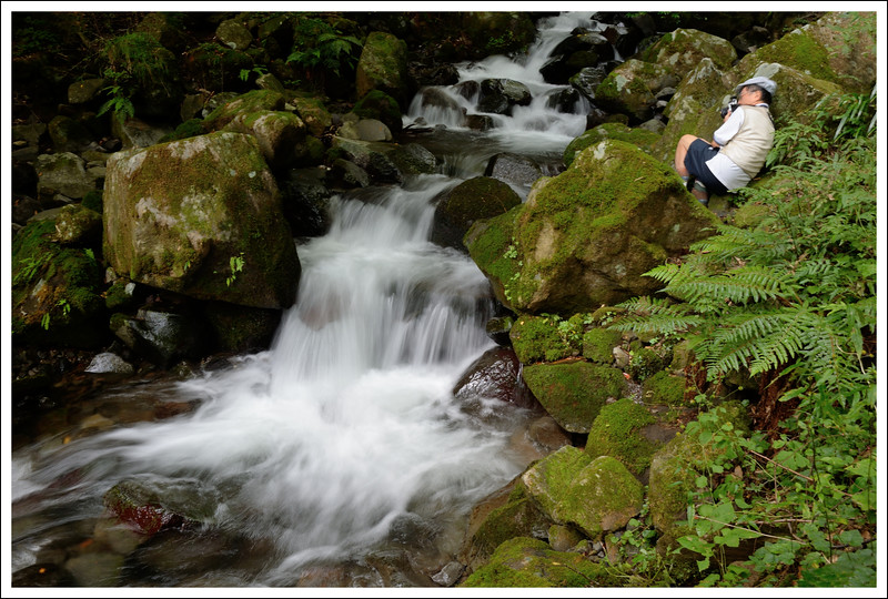 Seishi at the lower falls.  September