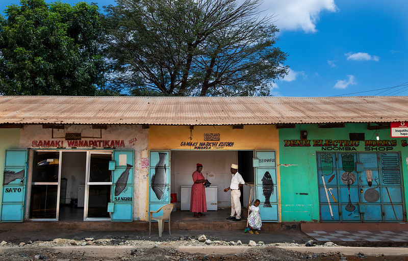 Colorful shop front,   Tanzania, 2019