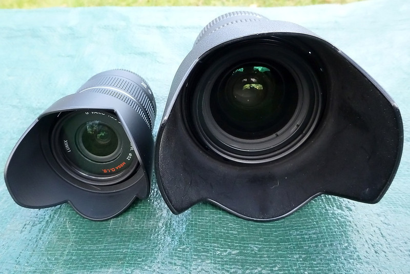 14-42mm vs 28-70mm from the front.