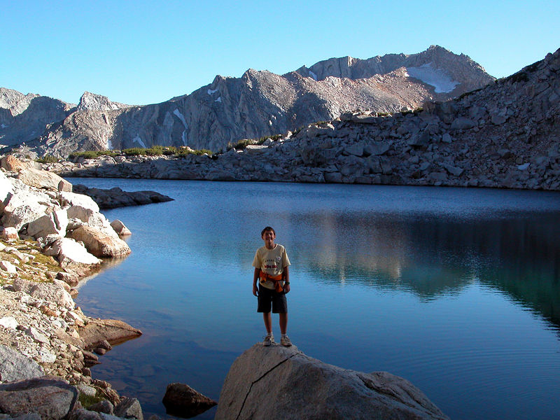 Beau back down at Alpine Lake