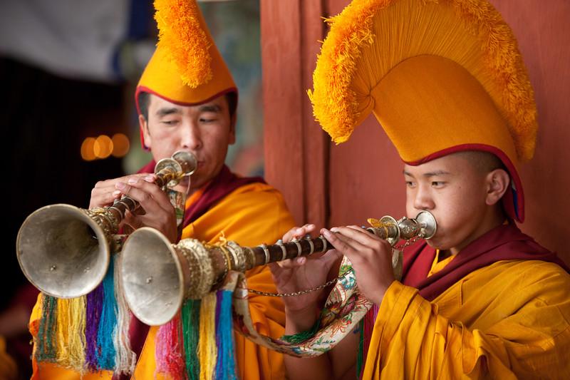 Mani Rimdu festival at Chiwong Monastery in Solu.