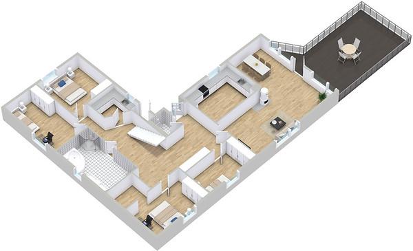 3D Floor Plan Models