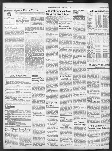 Daily Trojan, Vol. 32, No. 140, May 13, 1941