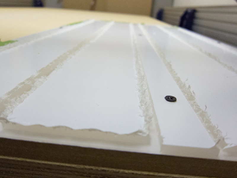 Machining side panels in Satin Ice acrylic