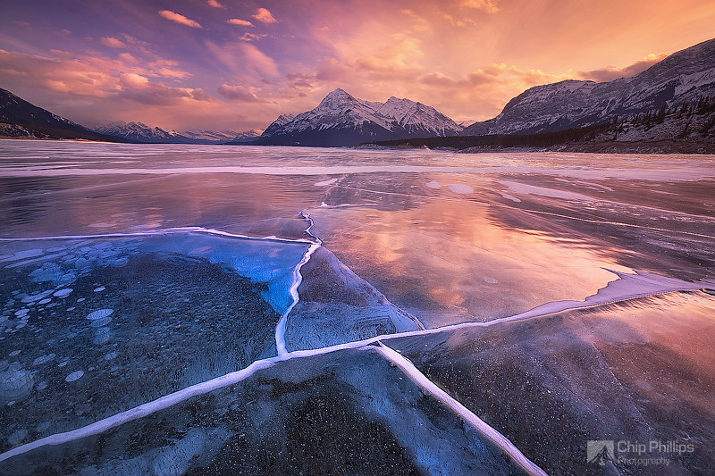 """Abraham Lake Sunset""