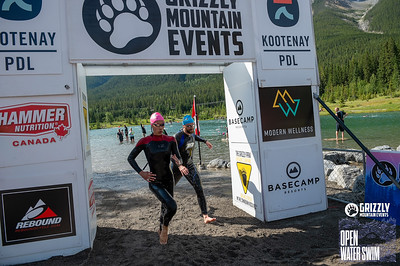 2019 Grizzly Open Water Swim Finish