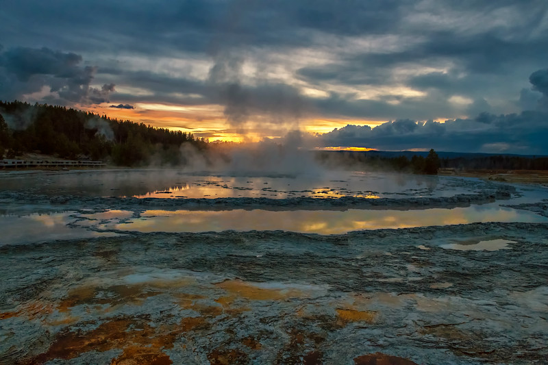 Great Fountain Geyser Sunset