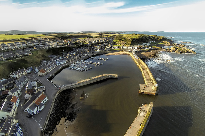 Findochty Harbour, Moray, Scotland.