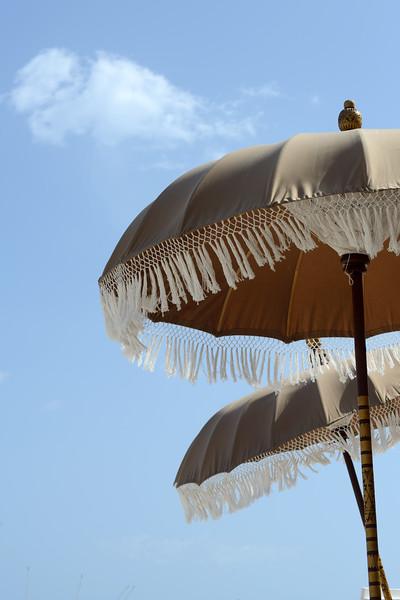 Beach Umbrellas - Playa del Carmen, Mexico - August 20, 2014