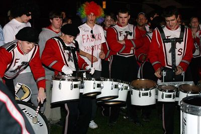 Drum Off  v. O.F. and Drumline in Courtyard