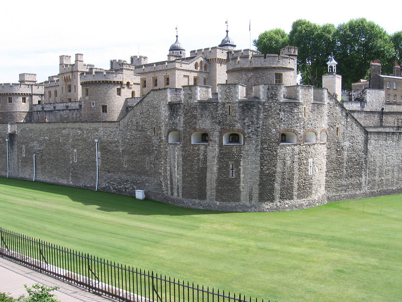 The outside of the Tower of London