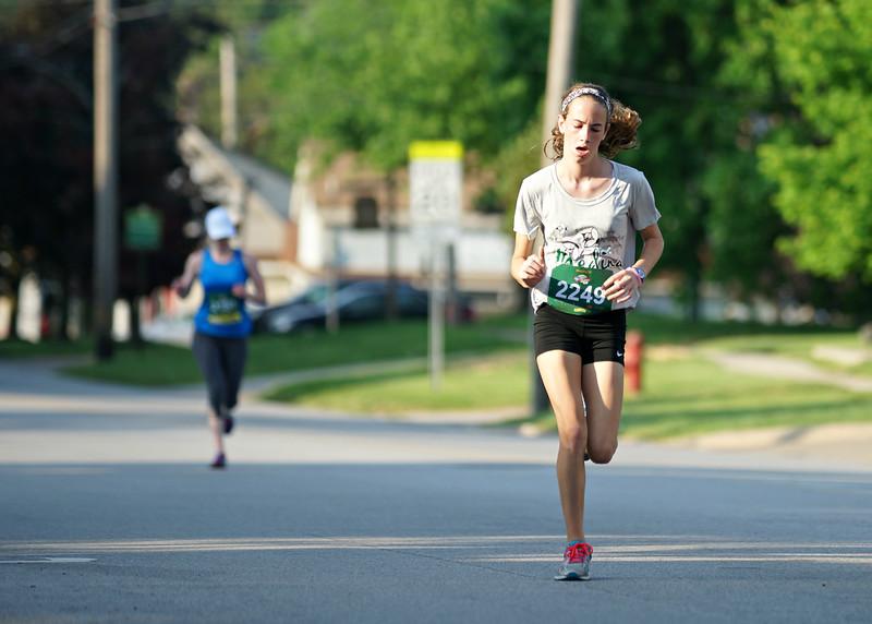 Women's 5K winner, Olivia Roberts.