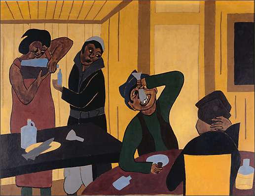 Jacob Lawrence, The Party (1935)