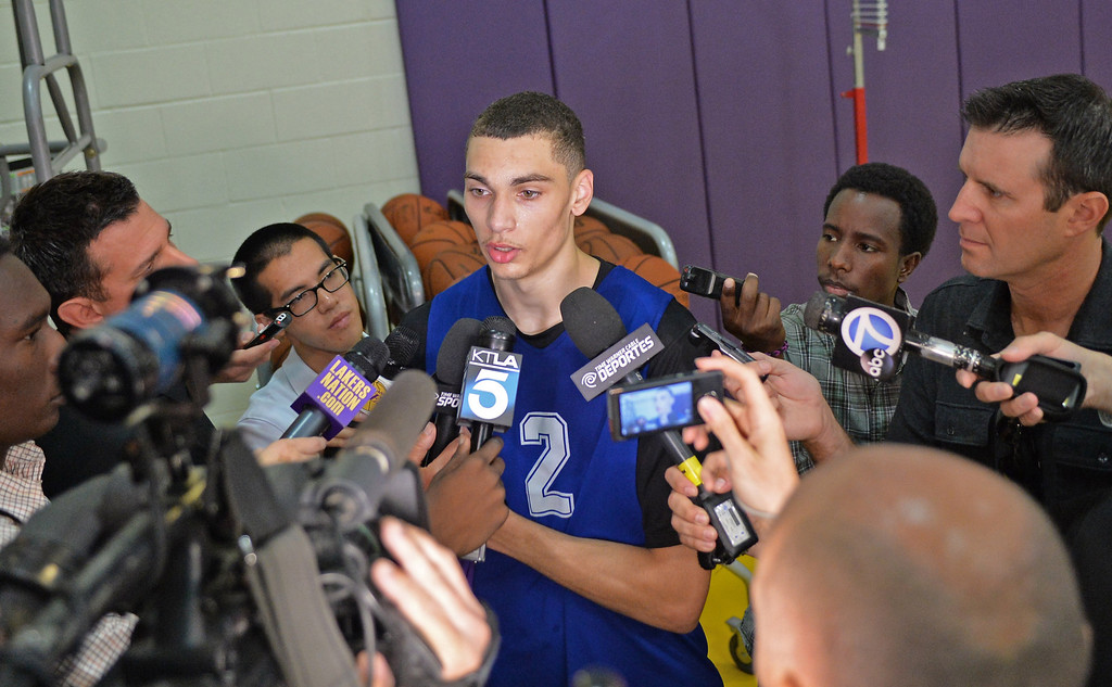 . Lakers pre-draft workout at Toyota Sports Center Wednesday June 4, 2014.       Photo By  Robert Casillas / Daily Breeze