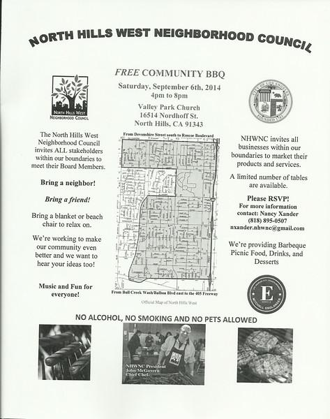 9-6-2014 North Hills West Neighborhood Council Community BBQ
