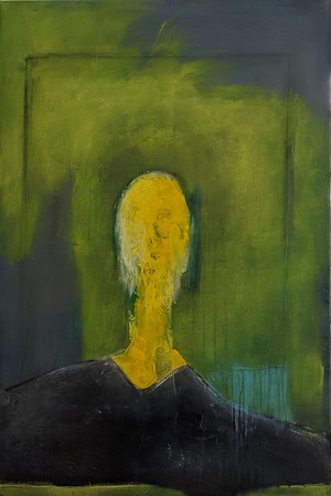 """""""Trapped In Yellow"""" (acrylic on canvas) by Davide DiCenso"""