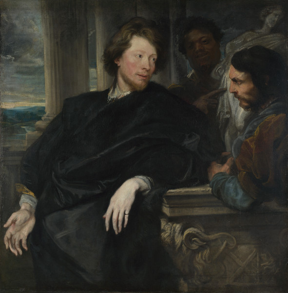Portrait of George Gage with Two Attendants