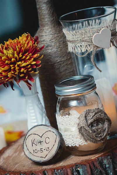 rustic centerpieces at wedding