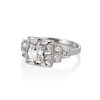 0.58ctw Old European Cut Diamond Art Deco Illusion Ring 1