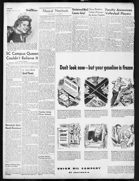Daily Trojan, Vol. 38, No. 51, November 25, 1946