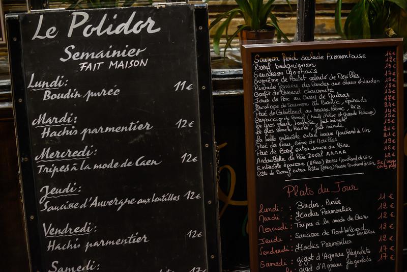 L'ardoise for Le Polidor