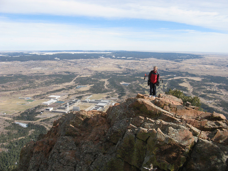 Down at the east face look-out. USAFA below; Kansas yonder.