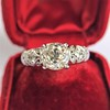 1.71ct Old Mine Cut Diamond Solitaire GIA K SI2 18