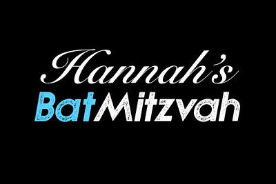 Hannah Bat Mitzvah