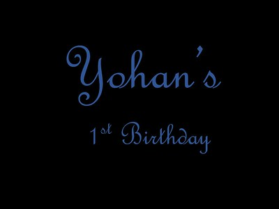 Yohan's 1st Birthday