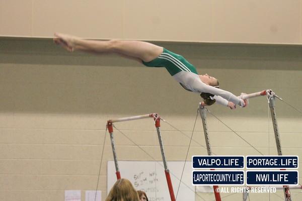 VHS Gymnastics vs Lake Central 1-24-2012