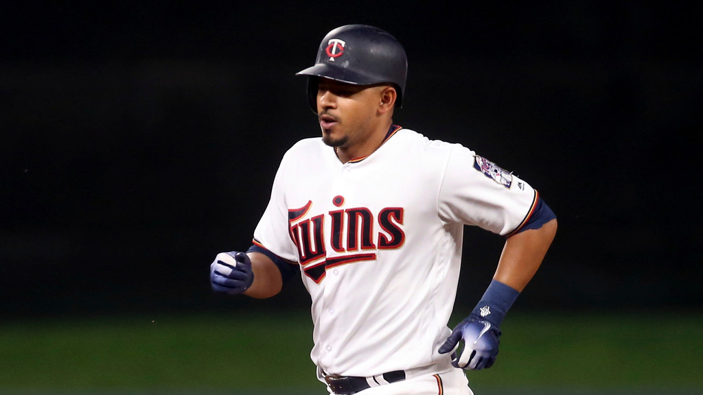 . Minnesota Twins\' Eduardo Escobar homers against the Cleveland Indians in a baseball game Thursday, May 31, 2018, in Minneapolis. (AP Photo/Jim Mone)