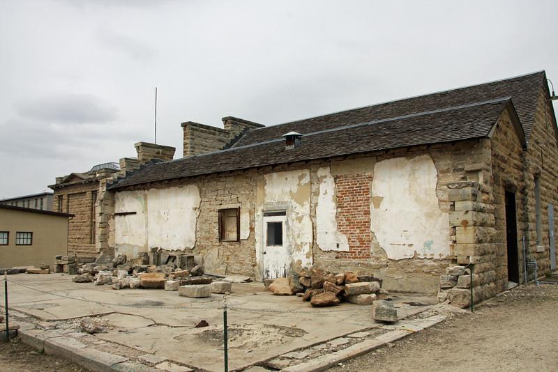 Foundation of Prison Hospital and Barber Shop