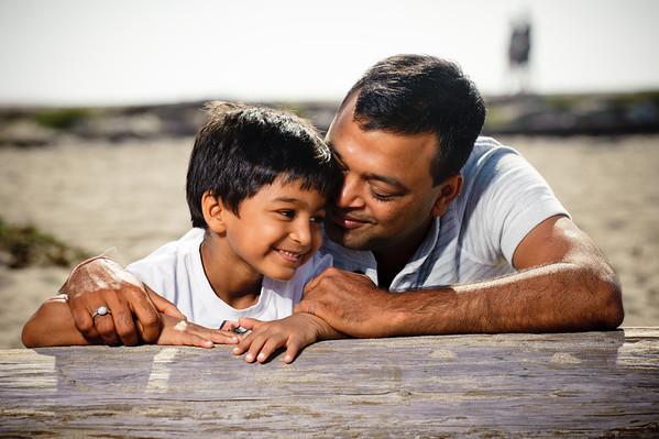 JP + Archana = Mahika < Nikunj (Family Photography, Seabright Beach, Santa Cruz, California)