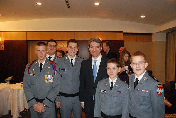 Cadets Meet the Governor