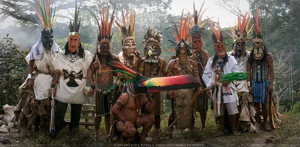 Festival los Diablitos en Yimba Cajc (Rey Curre) - Festival with Masks