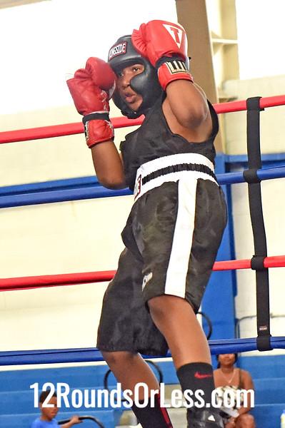 Bout 4 Khalil Abdullah, Blue Gloves, Cory Fight Club -vs- Daylen Houze, Red Gloves, DNA Level C B.C., 95 lb Bantam Div. Championship