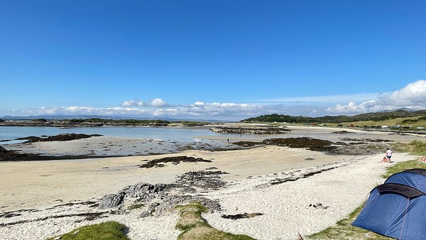 Assorted beaches Arisaig Dad Tide out