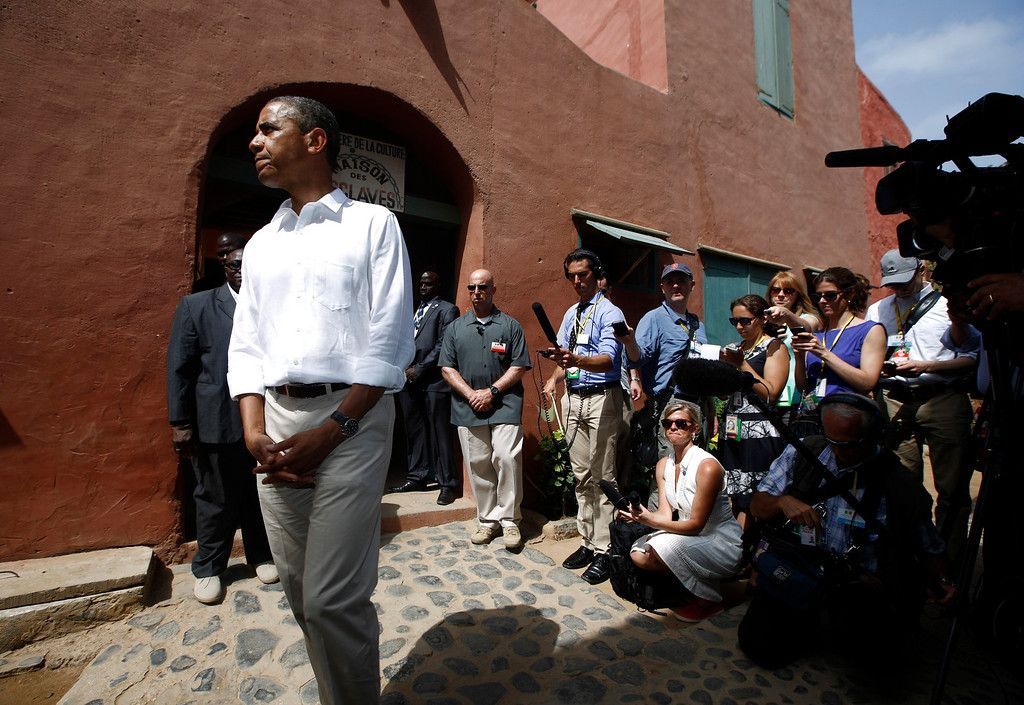 . U.S. President Barack Obama visits the Maison Des Ecslaves, the gathering point where slaves were shipped west in the 1700s and 1800s, at Goree Island near Dakar, Senegal, June 27, 2013. REUTERS/Jason Reed
