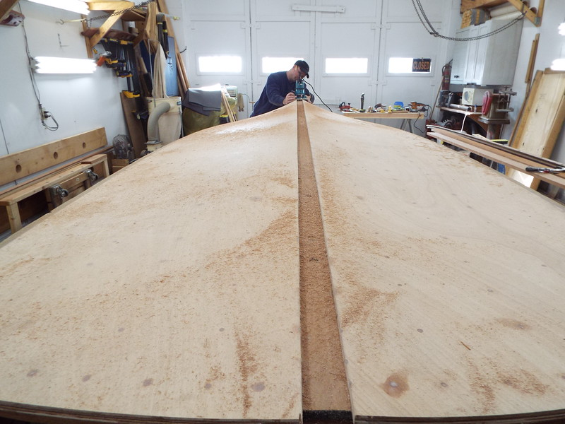 Routing the area for the keel cap.
