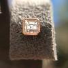.52ctw Asscher Cut Diamond Bezel Stud Earrings, 18kt Rose Gold 31