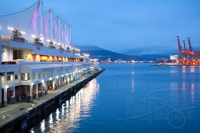 Canada Place Pier. Vancouver, BC