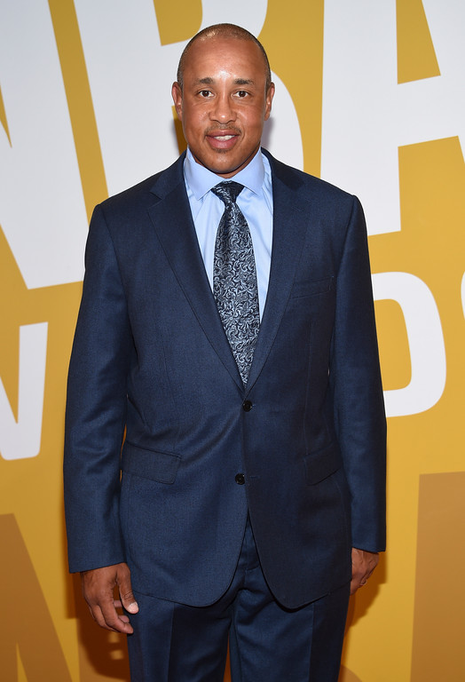 . John Starks arrives at the NBA Awards at Basketball City at Pier 36 on Monday, June 26, 2017, in New York. (Photo by Evan Agostini/Invision/AP)