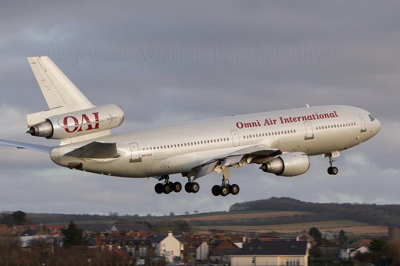 N612AX. McDonnell Douglas DC-10-30/ER. Omni Air International. Prestwick. 231207.