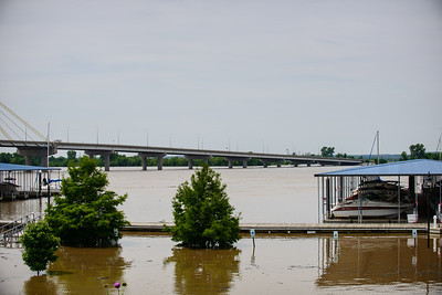 Alton Riverfront at 34 ft Flood Stage - June 4, 2013