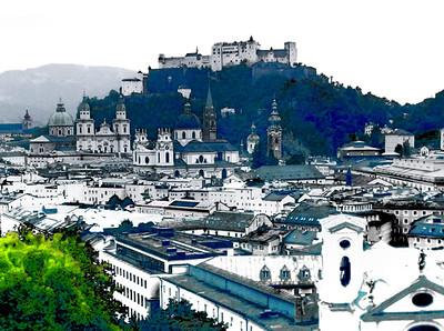 Salzburg seen from Mönchsberg